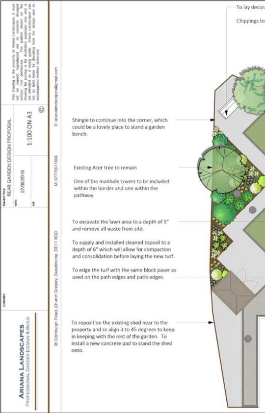 2D Pan for Derby Garden Design Service