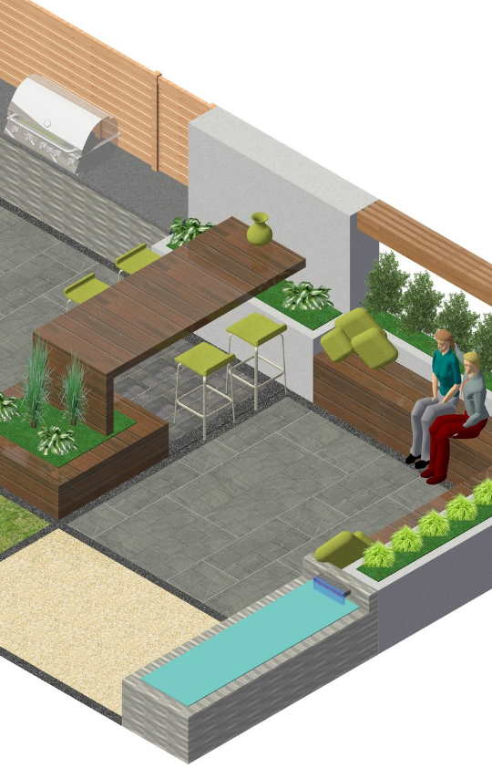 3D Pan for Derby Garden Design Service