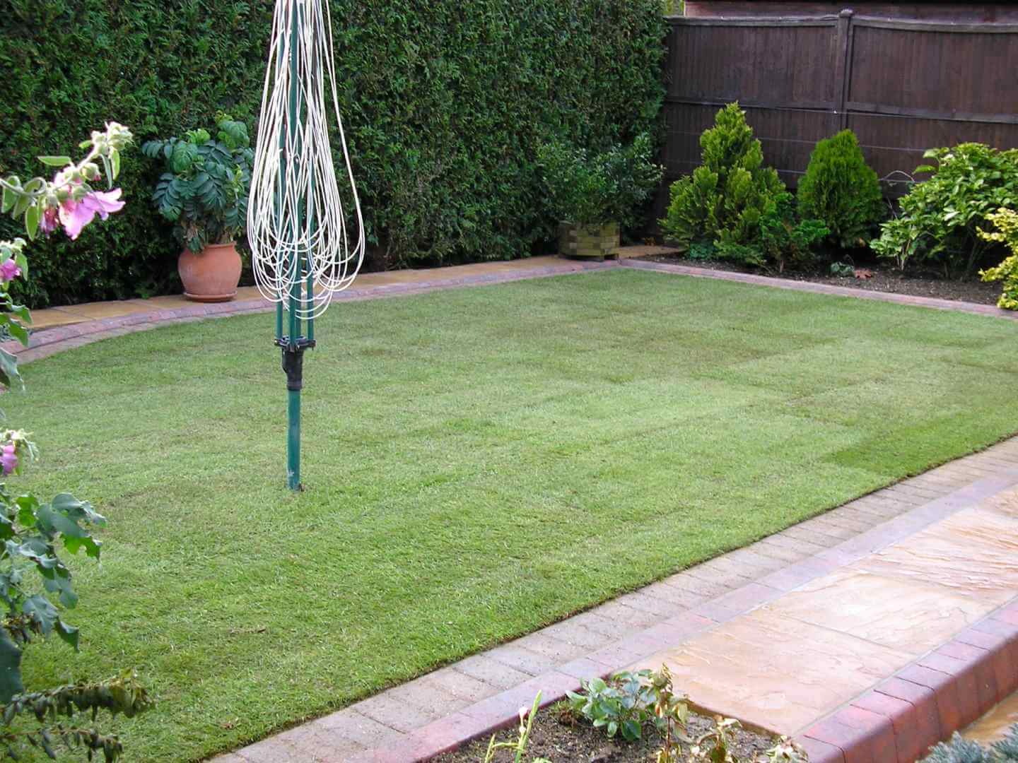 Derby Turf Laying Completed Garden
