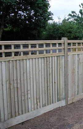 Example of quality fencing with trellis for a Derby garden