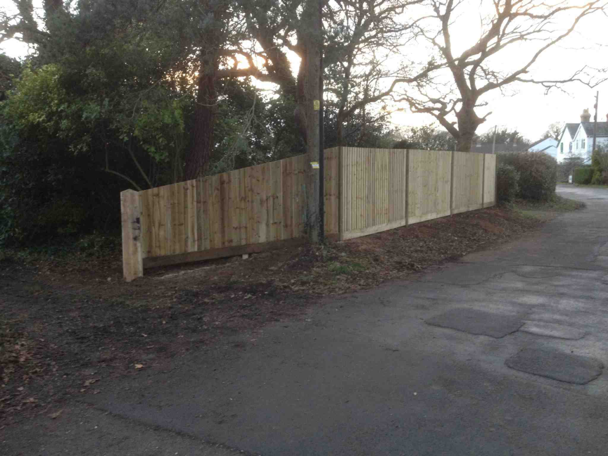 Portfolio eamples of our new fencing and gates company service in Derby 18